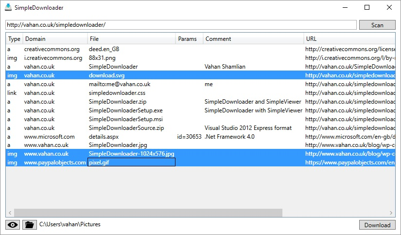 Click to view SimpleDownloader screenshots
